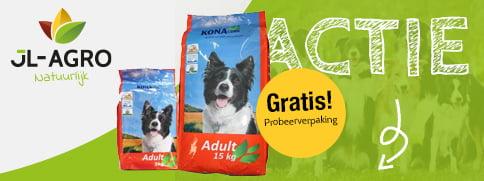Gratis probeerverpakking KonaCorn Hondenbrokken JL-Agro